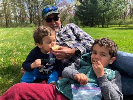 John Nieto-Phillips, Vice Provost, Diversity and Inclusion, enjoys time outdoors with his family.